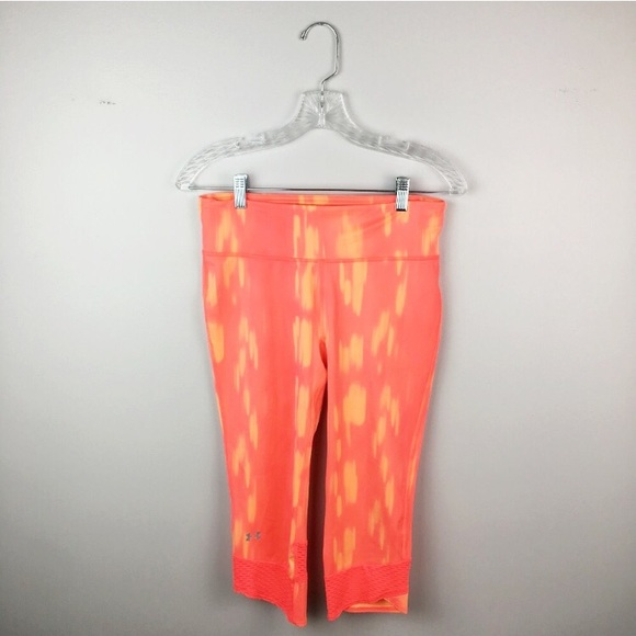 cheapest sale superior materials arriving Under Armor pink and orange cropped leggings